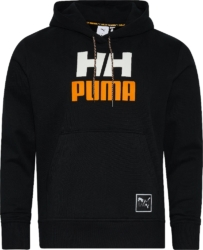 Puma x Helly Hansen Logo Print Black Hoodie
