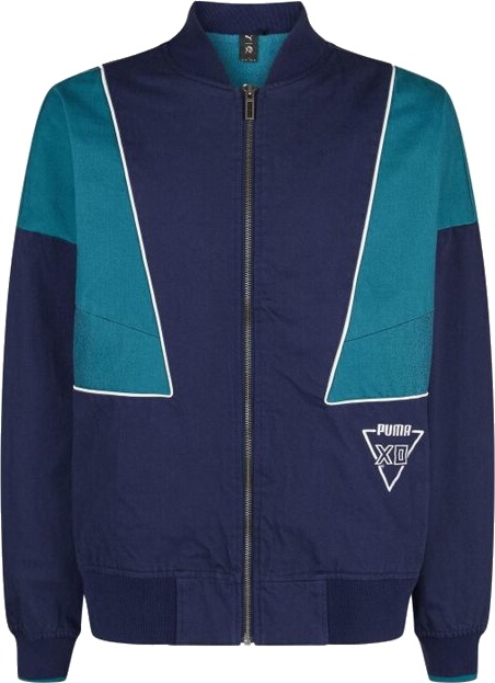 Puma Xo Navy And Teal Bomber Jacket