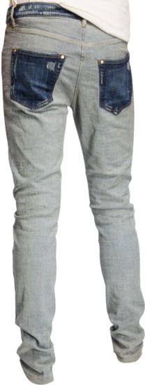Purple Brand Contrast Pocket Blue Jeans