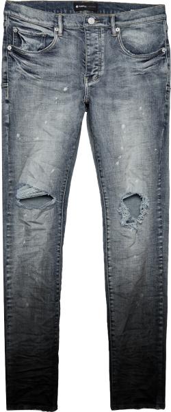 Purple Brand Indigo And Black Gradient P001 Jeans