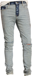 Inside-Out Effect Two-Tone Jeans