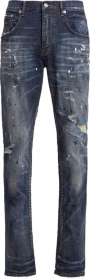 Purple Prand P0002 Paint Splatter Vinrage Distressed Jeans