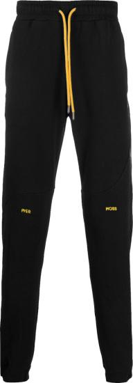 Pyer Moss Black Wave Sweatpants
