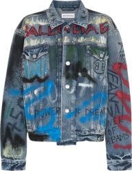 Quavo Instagram Painted Denim Jacket