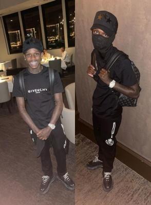 Qundo Rondo Wearing An Amiri Star Hat Black Givenchy Tee Louis Vuitton Backpack Dolce Gabbana Pants And Balenciaga Sneakes
