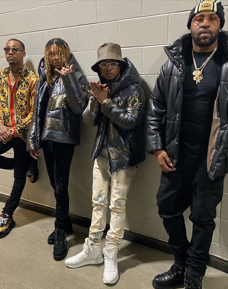 Rae Sremmurd Wish Their Fans On Nye In Matching Fendi Puffer Jacket