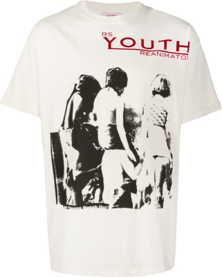 Raf Simons Youth Reanimator White T Shrit