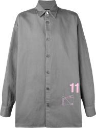 Raf Simons Grey Over Sized 11 Shirt