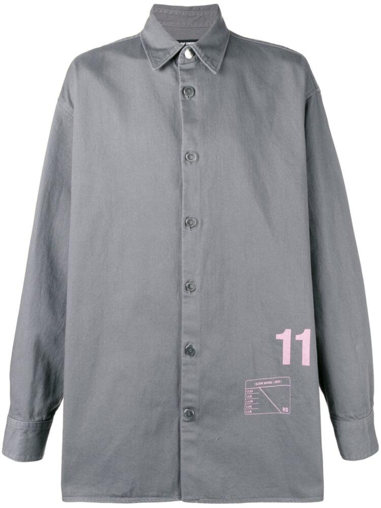 Raf Simons Grey Oversized Shirt