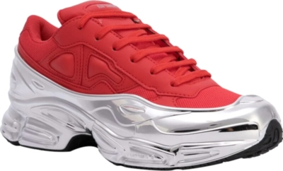 Raf Simons Red And Metallic Sneakers