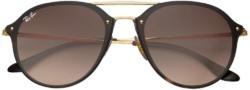 Ray Ban Blaze Double Bridge Brown And Gold Sunglasses