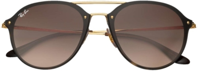 Ray Ban Blaze Double Bridge Brown And Gold Sunglasses