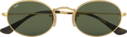 Ray Ban Gold Oval Sunglasses