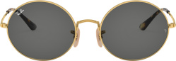 Rayban Gold And Grey Round Oval Sunglasses