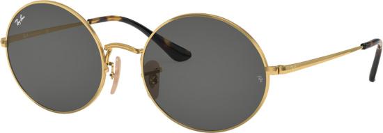 Rayban Gold Round Oval 1970 Sunglasses