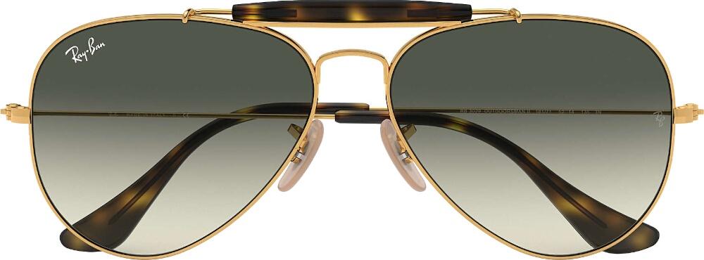 Oval Gold Sunglasses