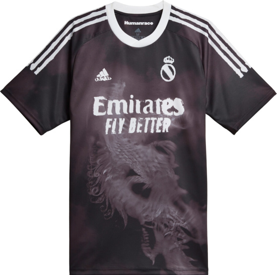 Adidas Real Madrid Black 'Human Race' Jersey   Incorporated Style