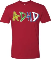 Red Adhd Print T Shirt
