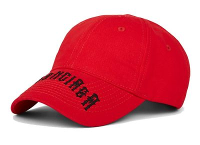 Red Balenciaga Hat Worn By Lil Skies
