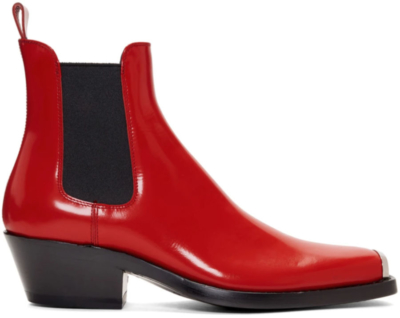 Red Chelsea Boots Worn By French Montana In His Slide Music Video