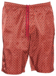 Red Patterned Needles Warn Up Shorts