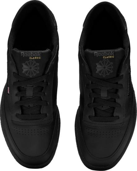 Reebok Classic Club C 85 Black Low Top Sneakers