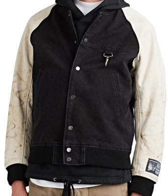 Reese Cooper Black And White Varsity Jacket