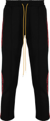 Rhude Black And Red Stripe Trackpants