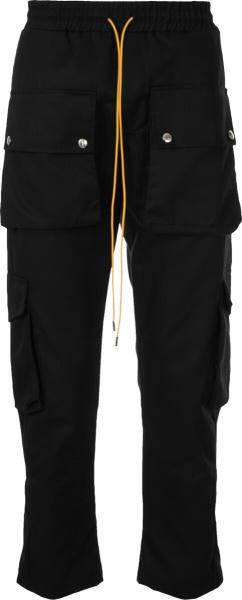 Rhude Black Cargo Pants