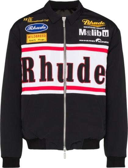 Rhude Black Racing Jacket
