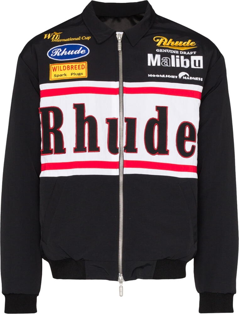 Rhude Black Racing Jacket
