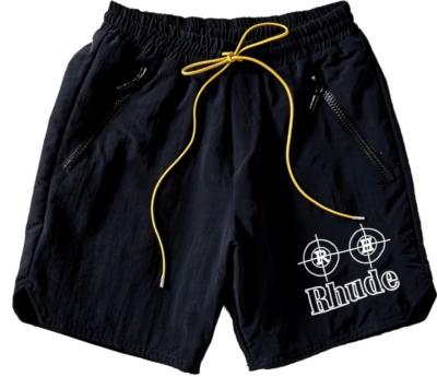 Rhude Black Target Print Shorts