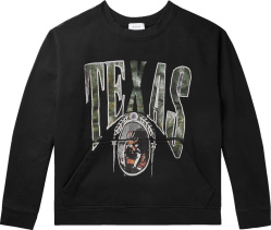 Rhude Black Texas Print Crewneck Sweatshirt