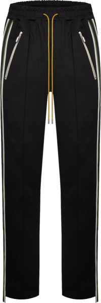 Rhude Black Traxedo Trackpants