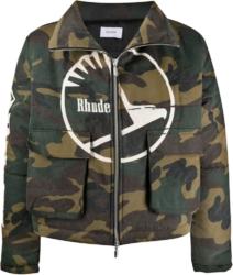 Rhude Camo Logo Print Jacket