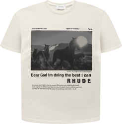 Rhude Ivory Best I Can T Shirt