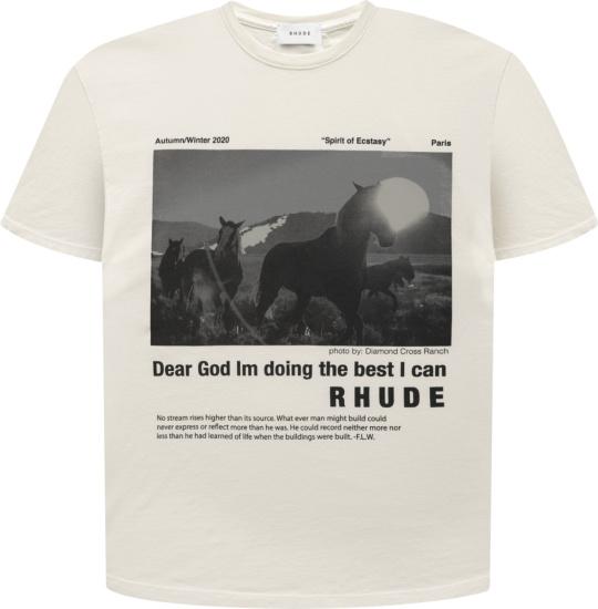 Rhude Ivory Best I Can T Shirt