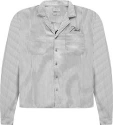 Rhude Pinstriped Trooper Shirt