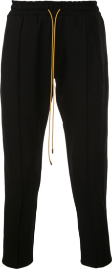 Rhude Red Side Stripe Cropped Trackpants