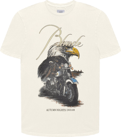 Rhude White Eagle Dream Print T Shirt