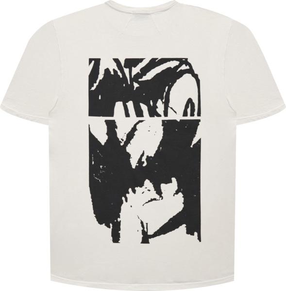 Rhude White Script Box Logo T Shirt