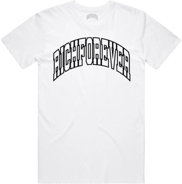 Rich Forever Black Varity Print White T Shirt