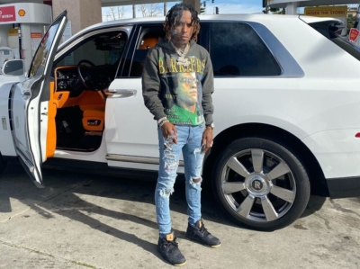 Rich The Kid Filling Up His Rolls In Barrie Hoodie Amiri Jeans And Jordans