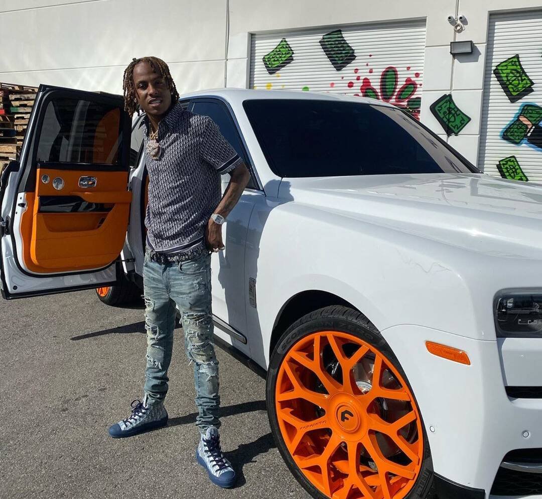 Rich The Kid Shows Off Forgi Rims In Dior And Amiri Jeans