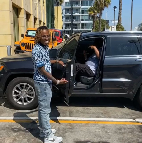 Rich The Kid Wearing A Dolce And Gabbana Shirt With Ksubi Jeans And Jordan X Dior Sneakers