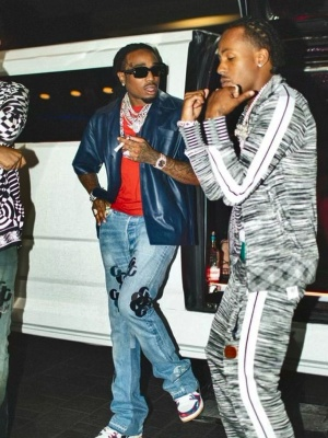Rich The Kid Wearing A Palm Angels X Missoni Track Jacket And Trackpants