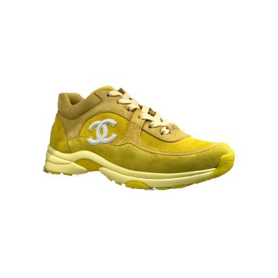 Rich The Kid Yellow Chanel Suede Sneakers