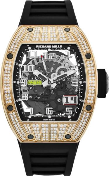 Richard Mill Rm029 Rose Gold Factory Diamond Watch