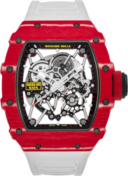 Richard Mille Rafael Nada Rm35 02 Red White Watch