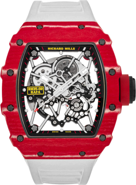 Richard Mille Rafael Nada Rm35 02 Red White Watch